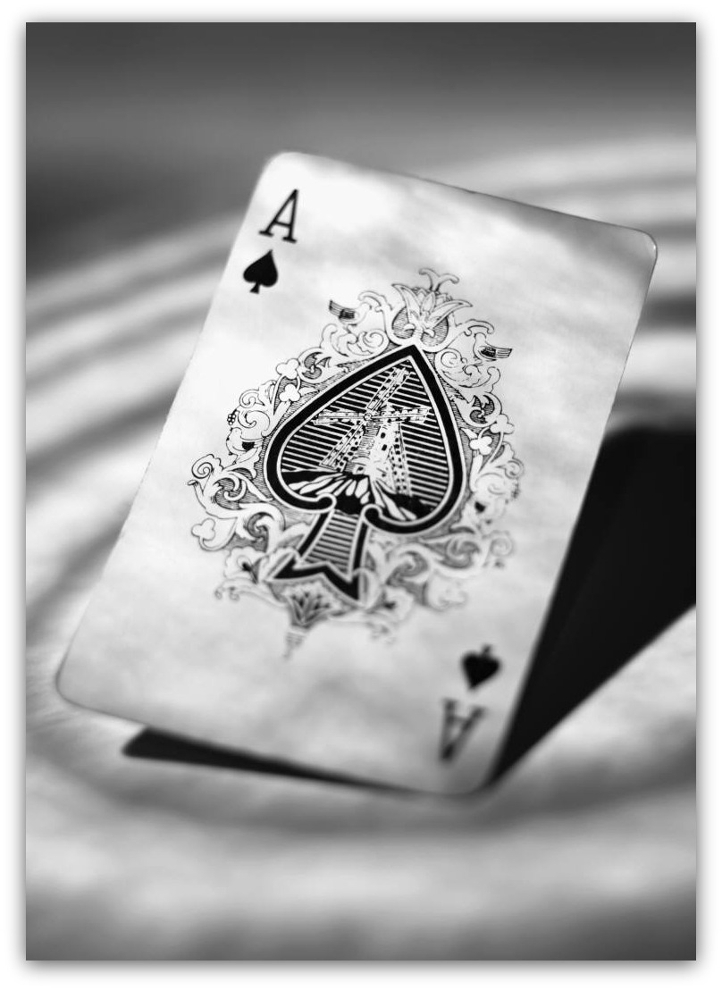 Cool Ace Of Spades Card