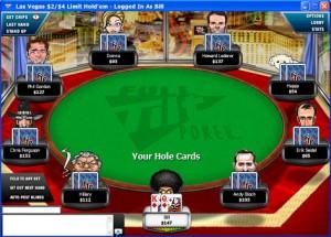 Full Tilt Poker table view